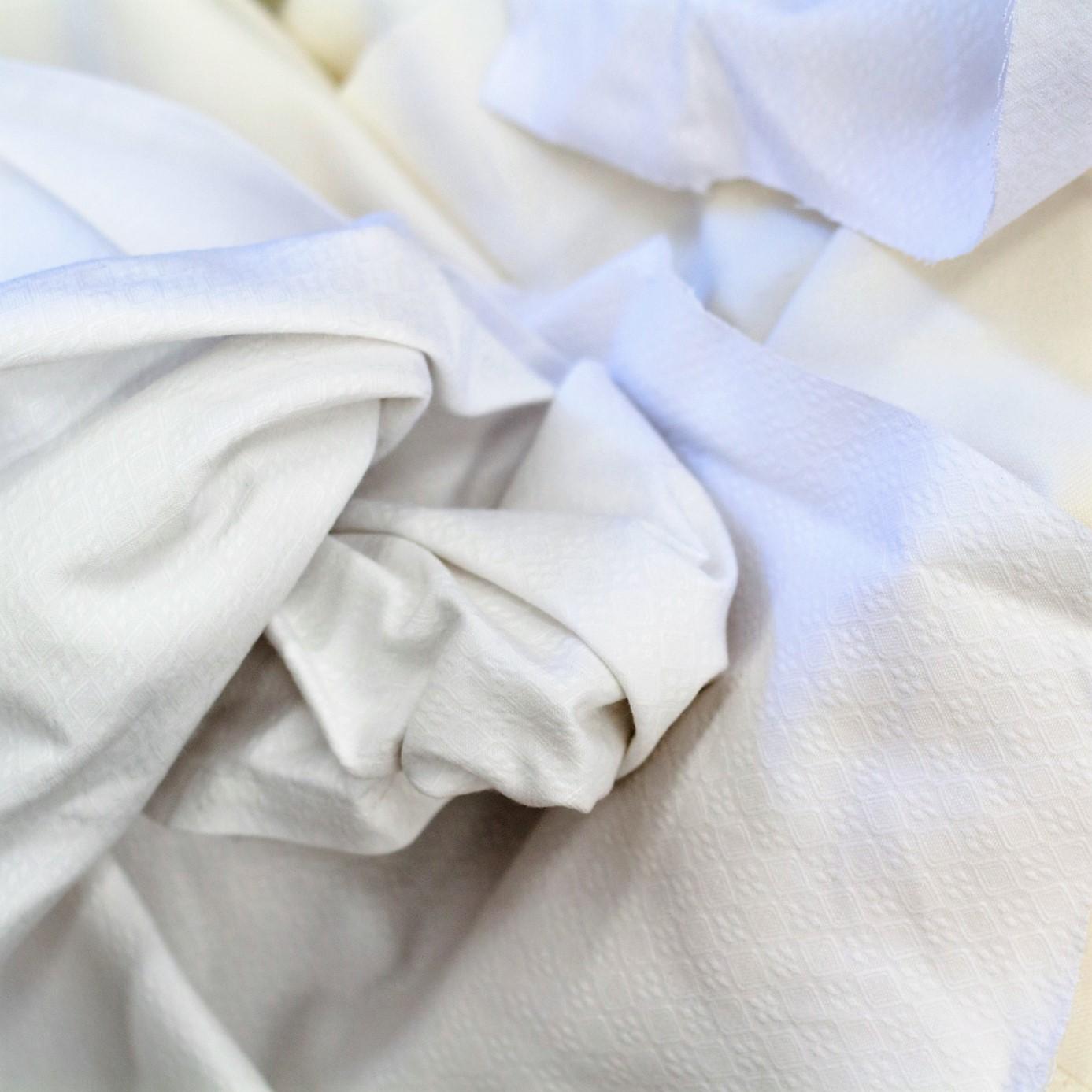 Trapo blanco mantel (poly-algodón)